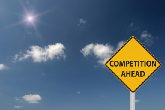 Competition ahead warning sign